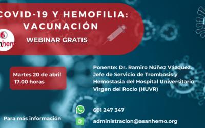 Webinar «Covid y Hemofilia- Vacunación»
