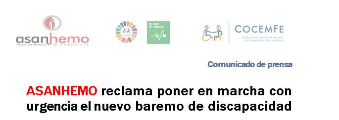 ASANHEMO reclama poner en marcha el nuevo baremo de discapacidad