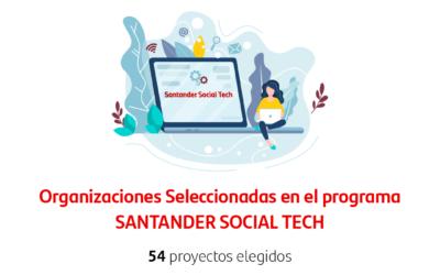 Asanhemo entre las 54 entidades beneficiarias en la  2ª convocatoria SantanderSocialTech