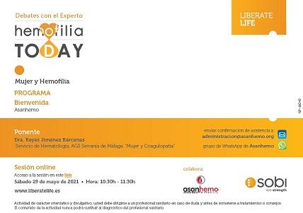 """Debate con el experto """"Mujer y Coagulopatía"""" Hemofilia Today -SOBI"""