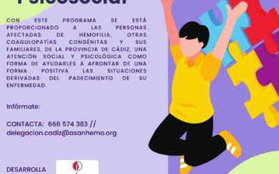 Programa de Atención Psicosocial en la Provincia de Cádiz con la Colaboración de Diputación De Cádiz